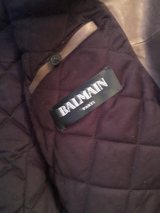 Balmain Leather Motorcycle with embroidered patch Size US M / EU 48-50 / 2 - 2