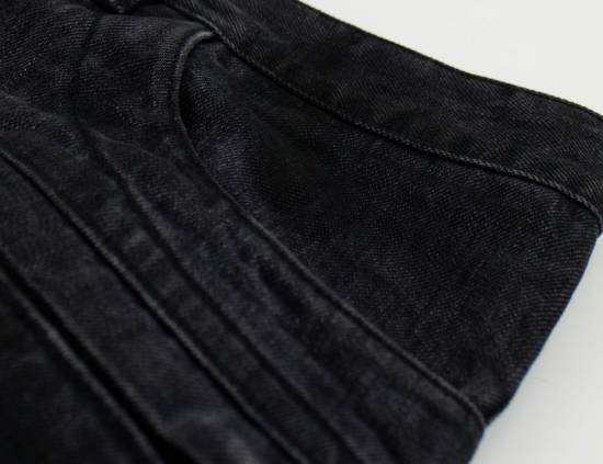 Balmain Black Cotton Denim Biker Jeans Size US 36 / EU 52 - 2