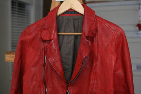 Julius FW09 'protectionism' Red Lambskin Rider Size 2 Size US S / EU 44-46 / 1 - 2