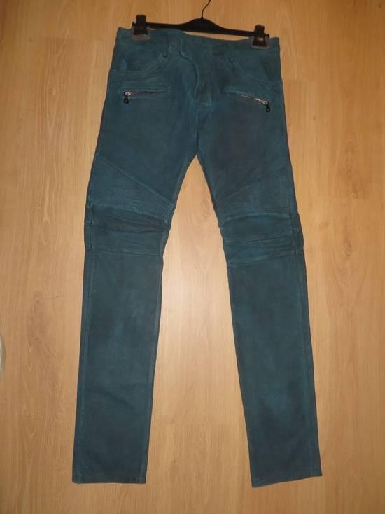 Balmain Suede biker pants Size US 34 / EU 50 - 1