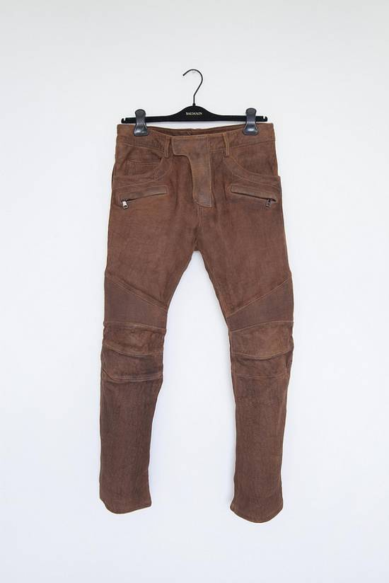 Balmain AW13 leather biker pants Size US 30 / EU 46
