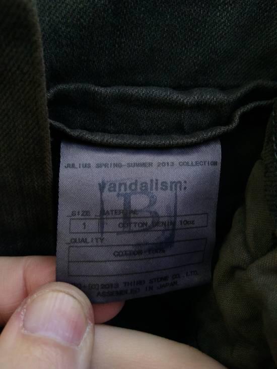 Julius Green Denim Gas Mask Cargo Pants s/s 13 Size US 29 - 10