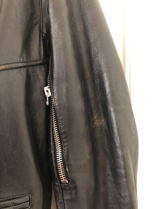Balmain Black Horse Leather Double Rider Jacket Size US L / EU 52-54 / 3 - 3