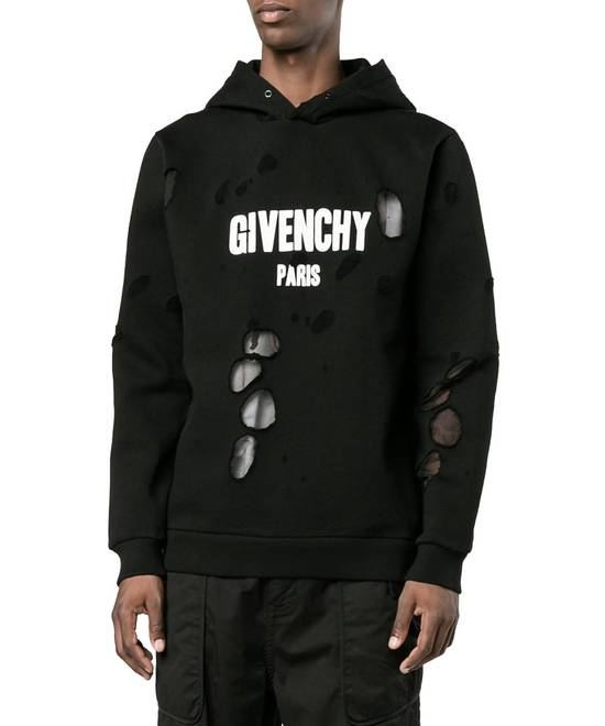 Givenchy Distressed Logo Print Hoodie Size US S / EU 44-46 / 1