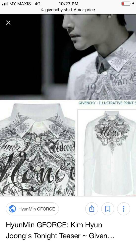Givenchy HONOR TATTOO GRAPHIC Size US M / EU 48-50 / 2 - 7
