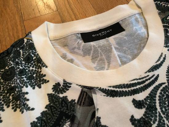 Givenchy Givenchy T Shirt White Green Paisley Fighter Jet Print Size US L / EU 52-54 / 3 - 3