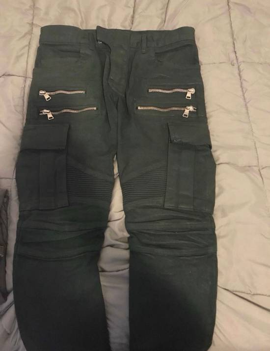 Balmain Green Cargo Zipper Pants Size US 30 / EU 46 - 2