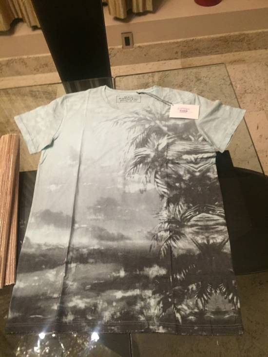 Balmain L & XL Light Blue Palm Tree S/S Size US M / EU 48-50 / 2