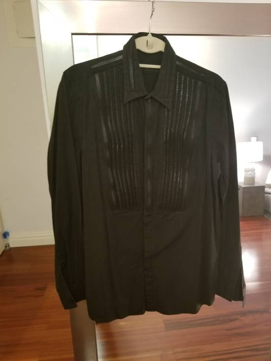 Givenchy Givenchy Zipper Tuxedo Bibb Style Black Shirt Size 40 Euro 15 3/4 Zip Detail Size US M / EU 48-50 / 2 - 1
