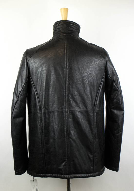 Julius 7 Men's Black Lamb Skin Leather Zip-Up Jacket Size 2/S Size US S / EU 44-46 / 1 - 3