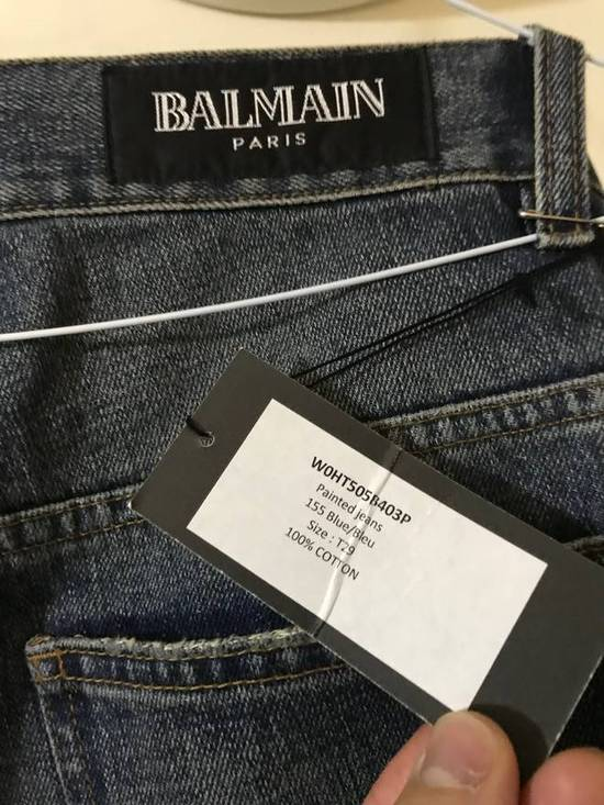 Balmain Decarnin-era painted destroyed denim Size US 29 - 8