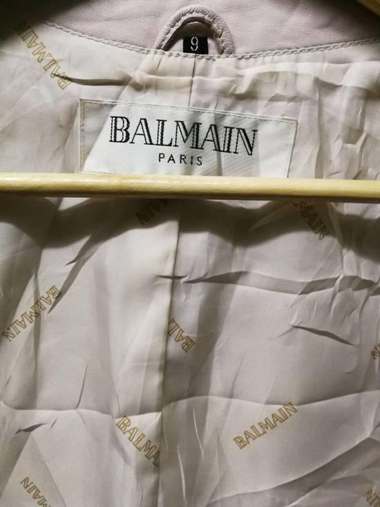 Balmain FULL LEATHER BLAZER BY BALMAIN PARIS, RARE ITEM FOR GRAB!!! INSPIRE LIKE KIM KARDASHIAN WEAR Size 42R - 2