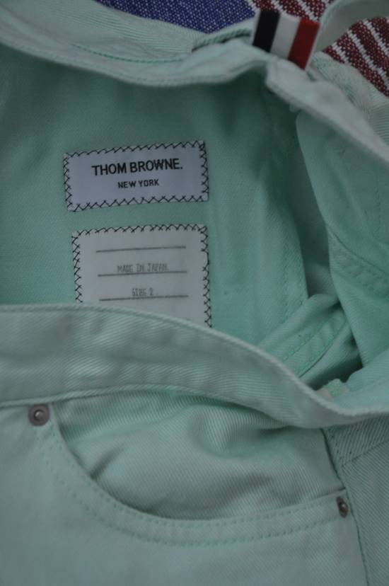 Thom Browne Mint Green Jeans Size US 31 - 1