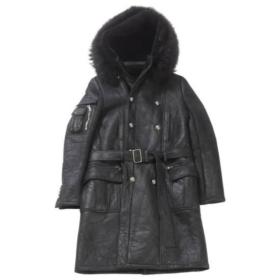 Balmain Balmain Leather Shearling Fur Parka Black Size Small 46-48 Coat Military Size US S / EU 44-46 / 1 - 9