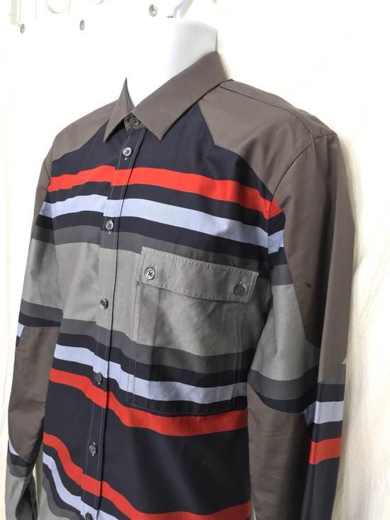 Givenchy Givenchy Paris Gray Horizontal Striped Button Shirt Size US L / EU 52-54 / 3 - 1