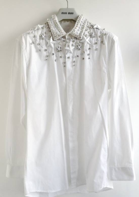 Givenchy GIVENCHY 2012 F/W STAR STUDS & CRYSTAL BEADS WHITE SHIRT Size US M / EU 48-50 / 2