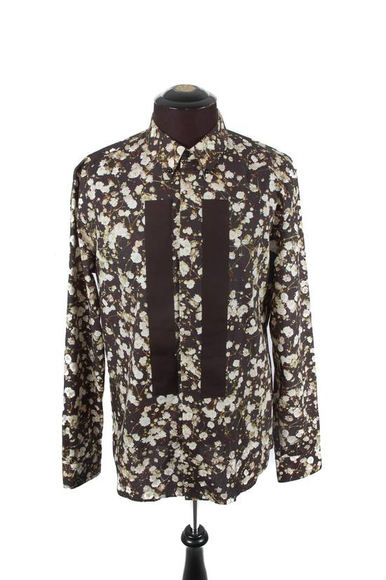 Givenchy Givenchy Black Cotton Floral Button-Down Size US M / EU 48-50 / 2