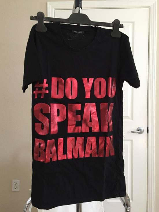 "Balmain ""DO YOU SPEAK BALMAIN"" T-shirt Size US XS / EU 42 / 0"