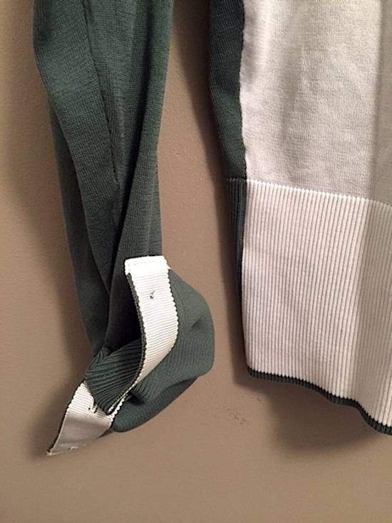 Thom Browne Green-White Color Block Sweater NEW Size US XL / EU 56 / 4 - 5