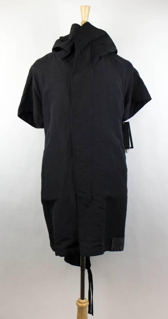 Julius Men's Black Linen Blend Fishtail Parka Coat Size 0/2XS Size US XS / EU 42 / 0