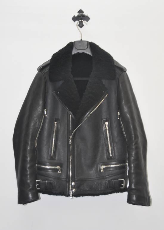 Balmain Balmain shearling leather biker jacket Size US L / EU 52-54 / 3