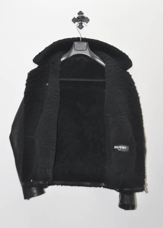 Balmain Balmain shearling leather biker jacket Size US L / EU 52-54 / 3 - 3