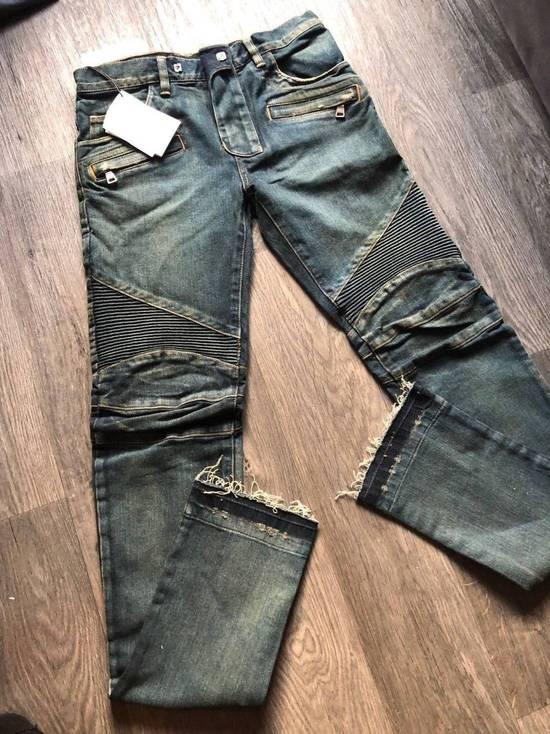 Balmain Balmain Authentic $1050 Blue Denim Biker Jeans Size 28 Slim Fit Brand New Size US 28 / EU 44 - 3