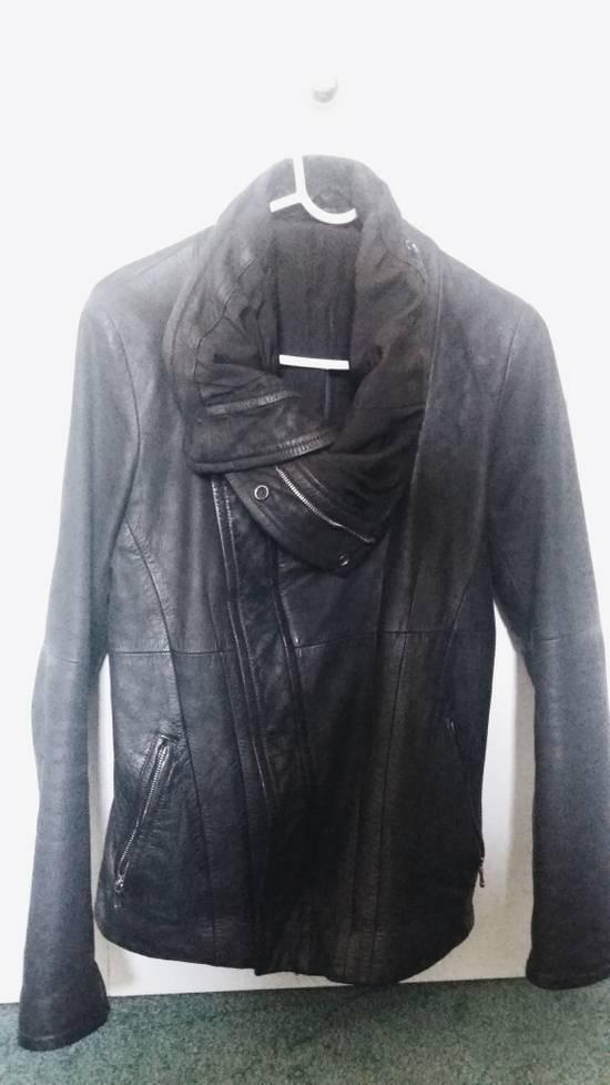 Julius FW10 Cowl Neck Leather Jacket Size US S / EU 44-46 / 1 - 5