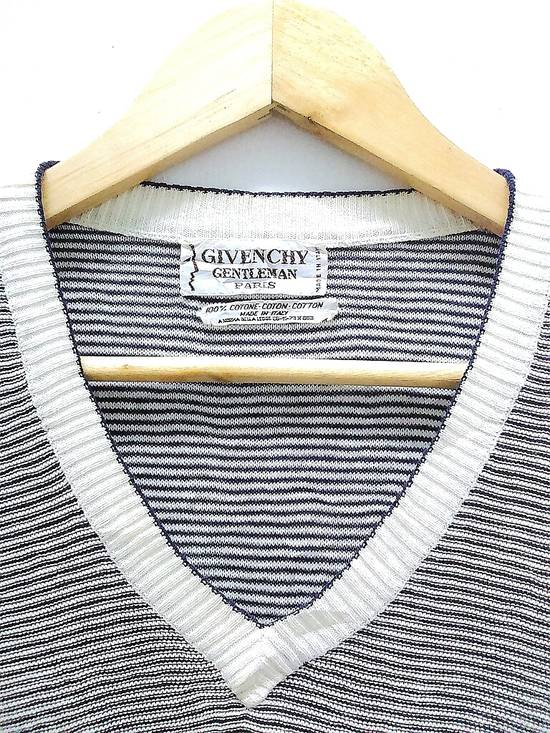Givenchy Hot Sale!!! Rare Vintage 90s GIVENCHY GENTLEMAN PARIS Striped Pullover Jumper Hip Hop Skate Swag Made In Italy Medium Size Size US M / EU 48-50 / 2 - 3