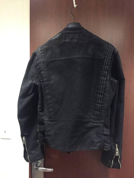 Balmain Waxed Moleskin Biker Jacket Size US XL / EU 56 / 4 - 1