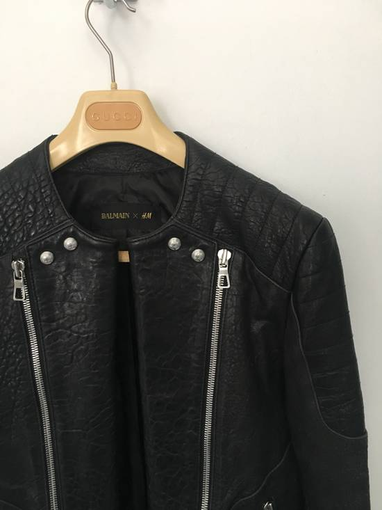 Balmain BALMAIN HM BLACK LEATHER JACKET Size US M / EU 48-50 / 2 - 2
