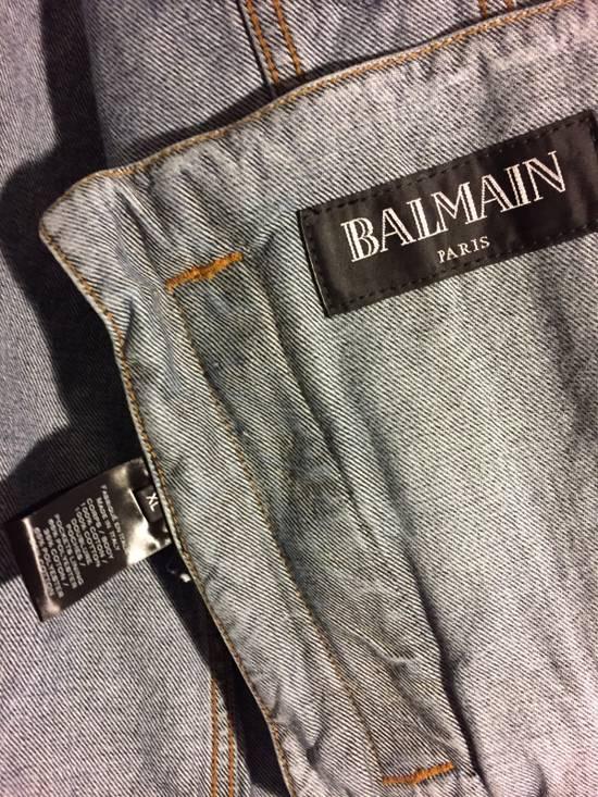 Balmain Blue Denim Destroy Jacket Size US XL / EU 56 / 4 - 5