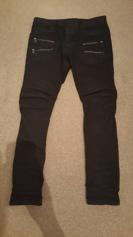Balmain Blue-Black Balmain Biker Size US 31