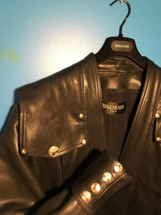 Balmain Lambskin Gold Button Detail Jacket Size US L / EU 52-54 / 3 - 5