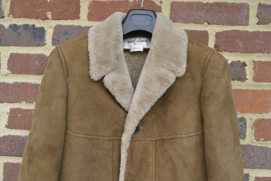 Saint Laurent Paris Hedi's Personal Suede and Shearling Coat Size US S / EU 44-46 / 1 - 3
