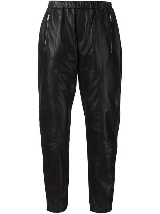 Givenchy $2475 Givenchy Lambskin Rottweiler Leather Trousers Trackpants size 50 (M / L) Size US 34 / EU 50 - 1