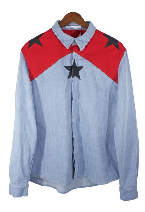 Givenchy Denim Star Button-Up Shirt Size US L / EU 52-54 / 3