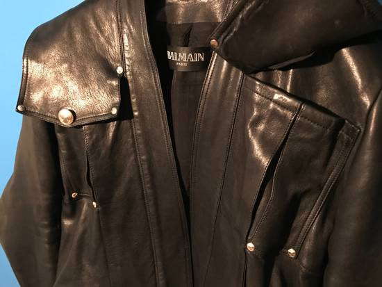 Balmain Lambskin Gold Button Detail Jacket Size US L / EU 52-54 / 3 - 8