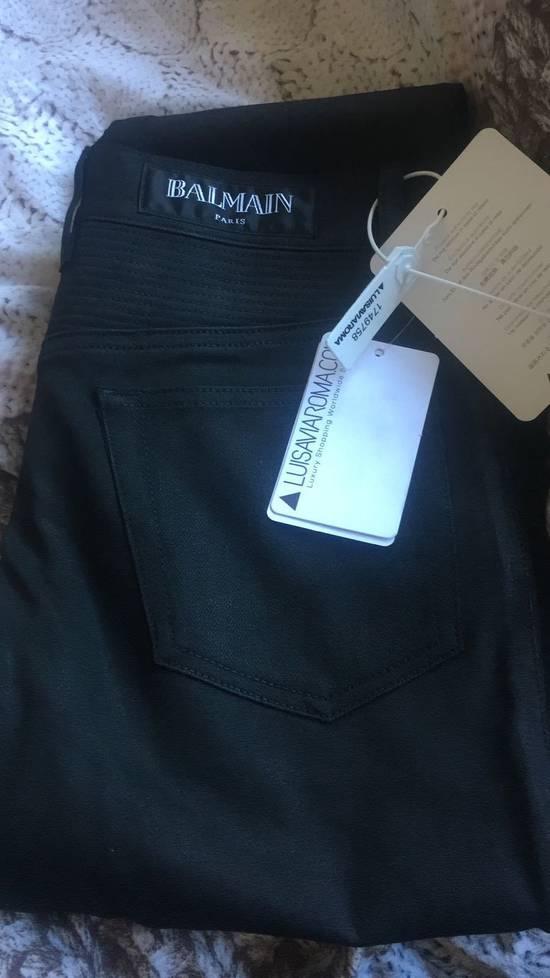 Balmain Balmain Black Denim Coated Authentic Biker $1230 Jeans Size 31 New Size US 31 - 6