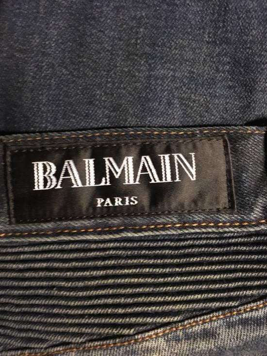 Balmain Slim Biker Jeans Size US 31 - 4