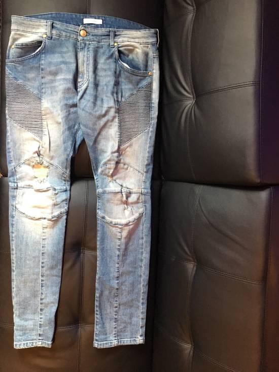 Balmain Distressed Biker Moto Jeans Size US 36 / EU 52
