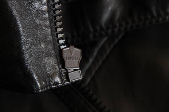 Dior AW05 Dior Homme 'L-Zip' Leather Motorcycle Biker Jacket Sz 50 Size US M / EU 48-50 / 2 - 9