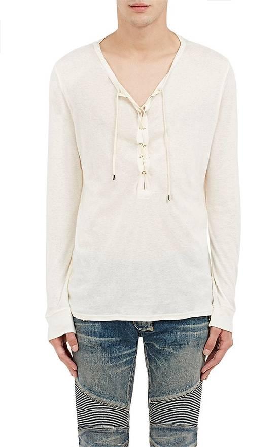 Balmain Size Small - Cashmere Blend Lace Front Shirt - FW16 - $625 Retail Size US S / EU 44-46 / 1 - 1
