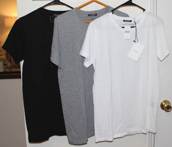 Balmain Balmain 3 Pack Distressed Cotton T-Shirts Size Small Brand New White Black Gray Size US S / EU 44-46 / 1