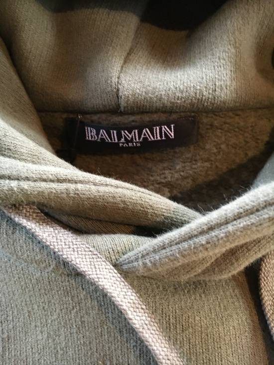Balmain Balmain Green Hoodie with Army Print Shoulder Patches Size US L / EU 52-54 / 3 - 2