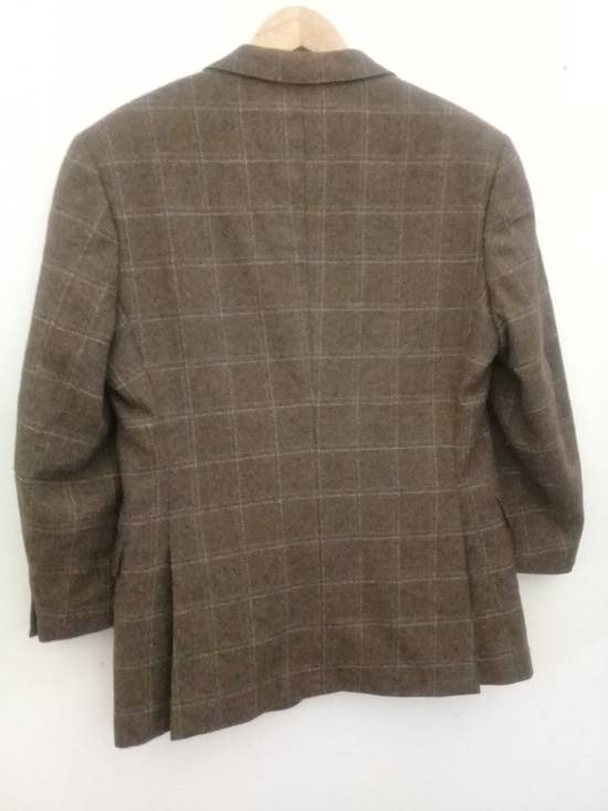 Givenchy Givenchy Gentleman Selection Couture Wool Cashmere Brown Plaid Blazer Size 46R - 19