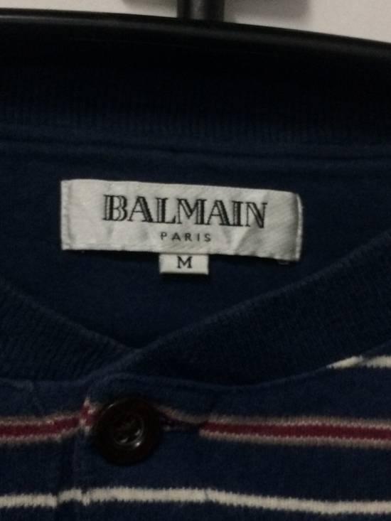 Balmain Stripe L/Sleeve Balmain Pocket T's Large Made in Japan. Size US L / EU 52-54 / 3 - 2