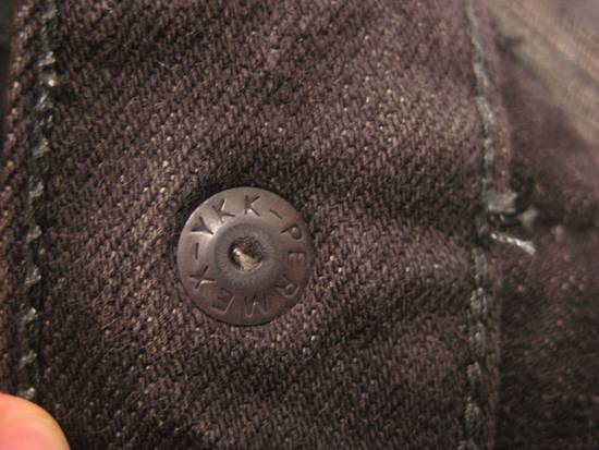 Balmain Classic Moto Jeans Made in Japan Style No. W4HT551C710W Black Coated Skinny Stretch Denim Biker Pants 32 x 32 Size US 32 / EU 48 - 11