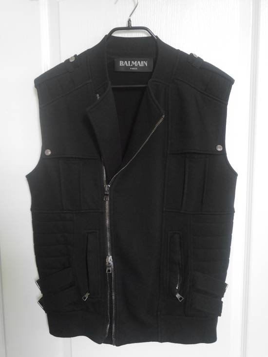 Balmain Black Moto Jersey Vest Size US M / EU 48-50 / 2 - 2
