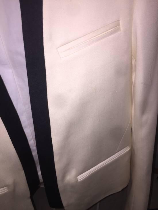Balmain White Tuxedo jacket Size 48S - 5